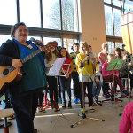 Aufstellung zum Flötenkonzert