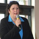 Schulleiterin Frau Hallmann eröffnet den Tag